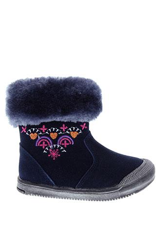 kouki chaussures fille de couleur bleu