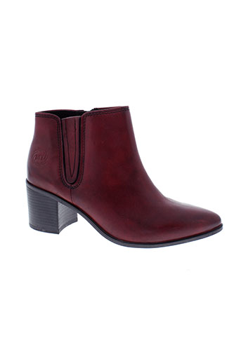 marco tozzi chaussures femme de couleur rouge