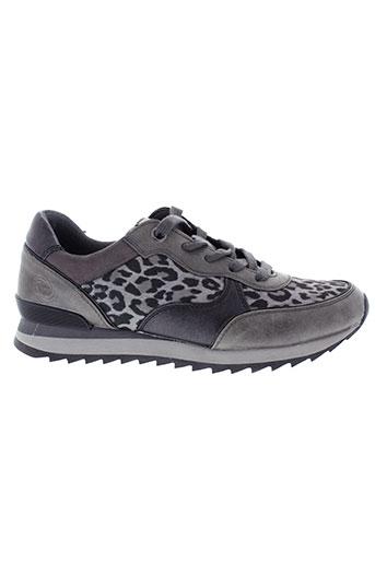 marco et tozzi baskets femme de couleur gris