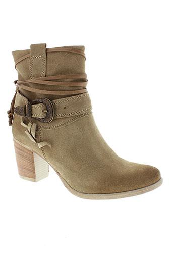marco et tozzi boots femme de couleur beige