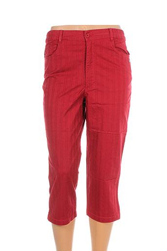 tbs pantacourts femme de couleur rouge