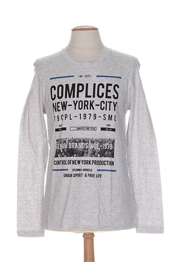 complices t-shirts homme de couleur gris