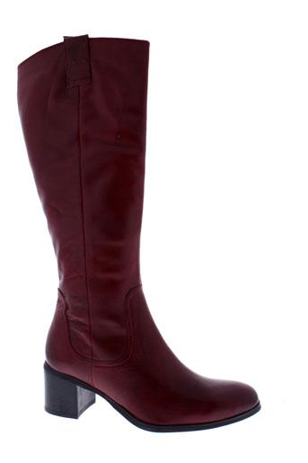 fugitive bottes femme de couleur rouge