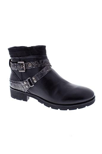 stressless boots femme de couleur noir