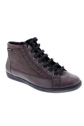 mobils baskets femme de couleur gris