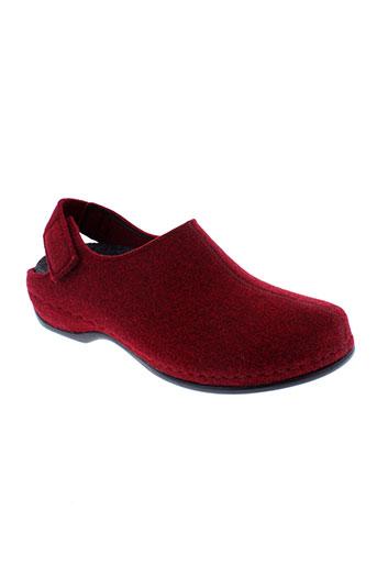 berkemann chaussures femme de couleur rouge