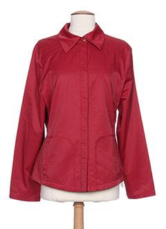 Veste casual rouge GINA B HEIDEMANN pour femme