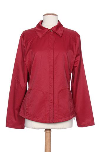gina b heidemann vestes femme de couleur rouge