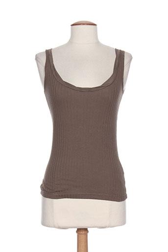 cannisse t-shirts femme de couleur marron