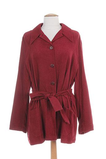 22 et octobre et de et strelli vestes femme de couleur rouge (photo)