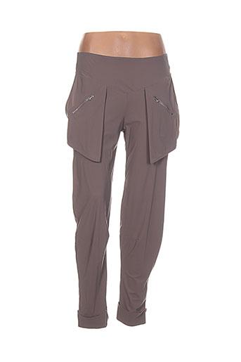 pilou des partants pantalons femme de couleur marron