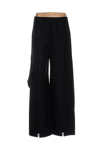 angora pantalons femme de couleur noir