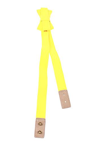 nice things accessoires femme de couleur jaune