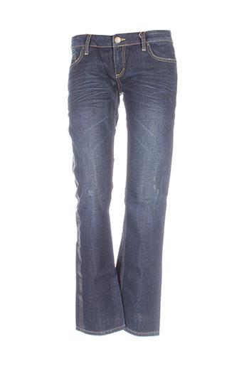 nvy denim jeans femme de couleur bleu