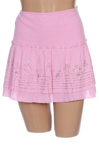Mini-jupe rose FOLIA pour femme