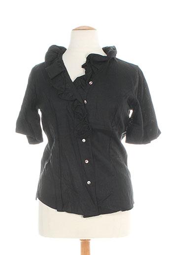 gaia boldetti chemises femme de couleur noir