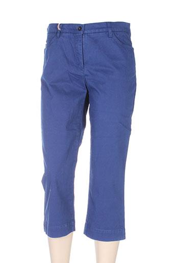 couturist pantacourts femme de couleur bleu