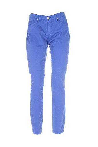 blu et erin pantalons et decontractes femme de couleur bleu