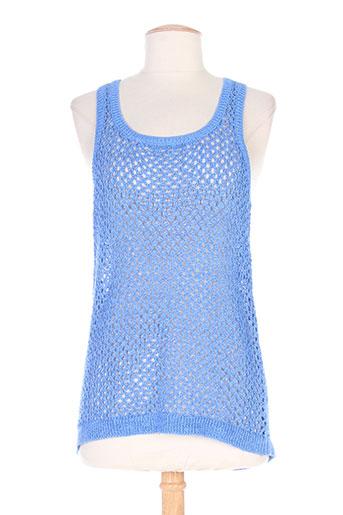 mila brant chemises femme de couleur bleu