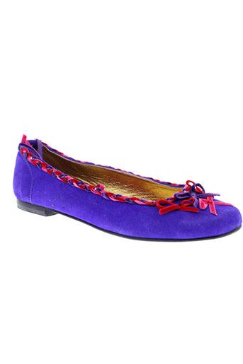 bijou et de et pied ballerines femme de couleur violet
