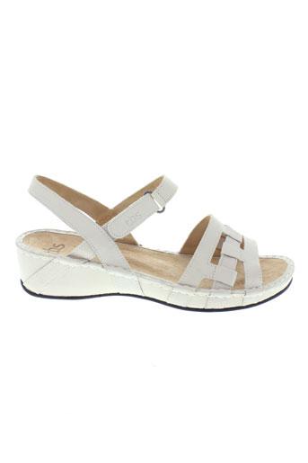tbs sandales et nu et pieds femme de couleur blanc
