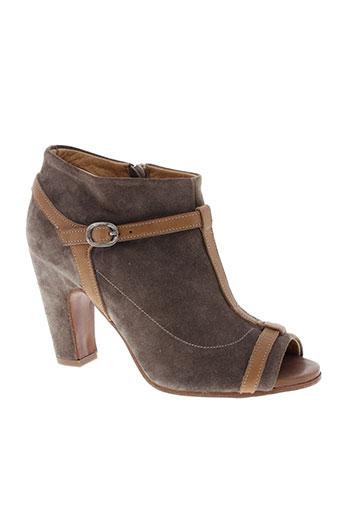 ink et shoes bottines femme de couleur marron