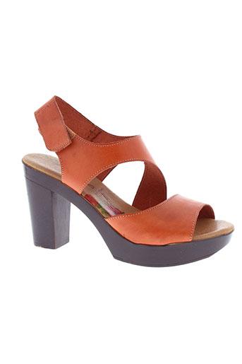 marila sandales et nu et pieds femme de couleur orange