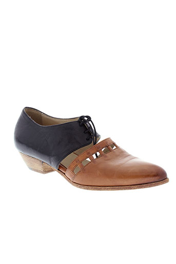 ink et shoes derby femme de couleur marron
