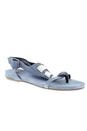 vic sandales et nu et pieds femme de couleur bleu