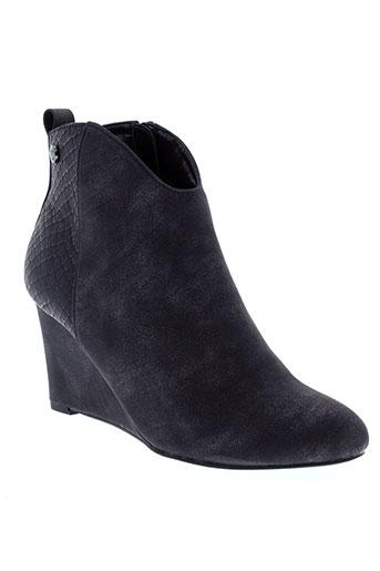 initiale et paris boots femme de couleur noir