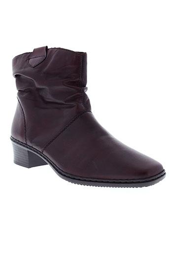 rieker boots femme de couleur rouge