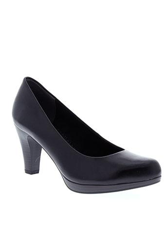 marco et tozzi escarpins femme de couleur noir