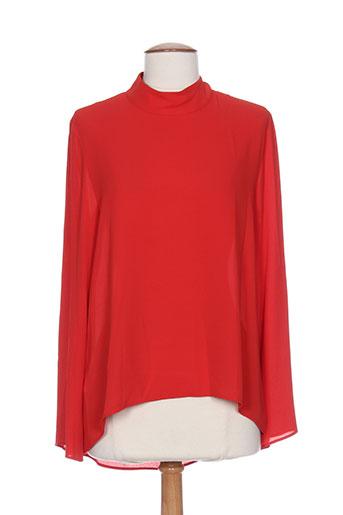 éclà tuniques femme de couleur rouge