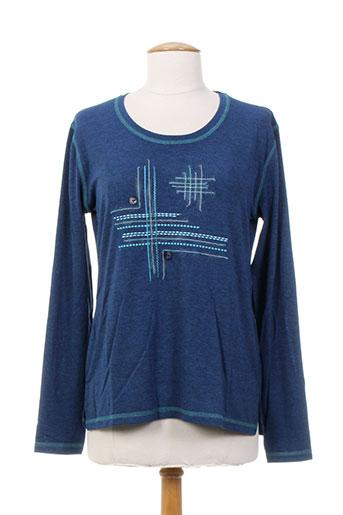 jean gabriel t-shirts femme de couleur bleu