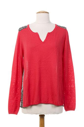 season chemises femme de couleur rouge
