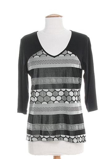 lucchini chemises femme de couleur noir