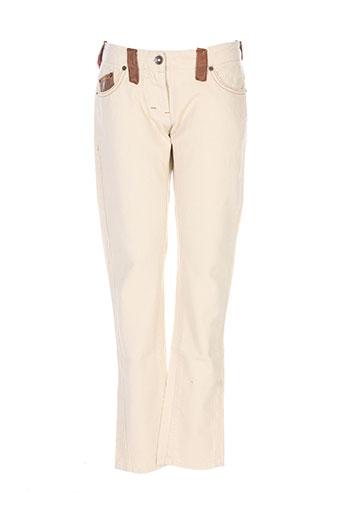bray pantalons femme de couleur beige