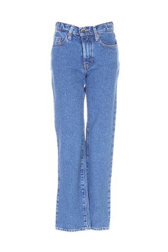 jost jeans fille de couleur bleu