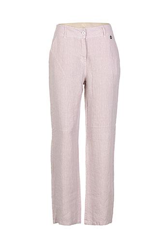 blanc boheme pantalons femme de couleur rose