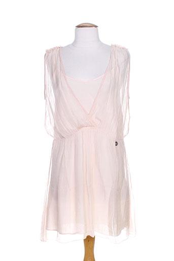 blanc boheme robes femme de couleur rose