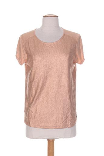 blanc boheme t-shirts femme de couleur orange
