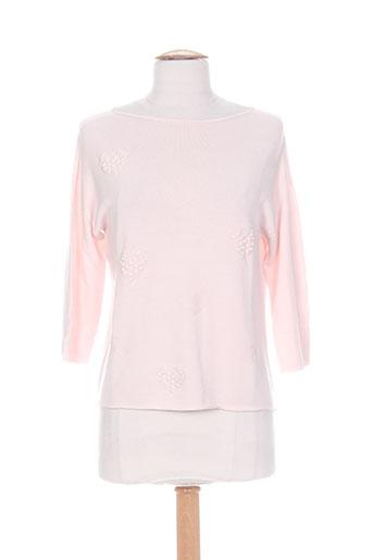 blanc boheme pulls femme de couleur rose