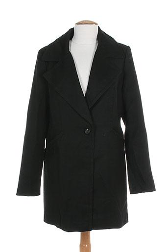 attentif manteaux femme de couleur noir