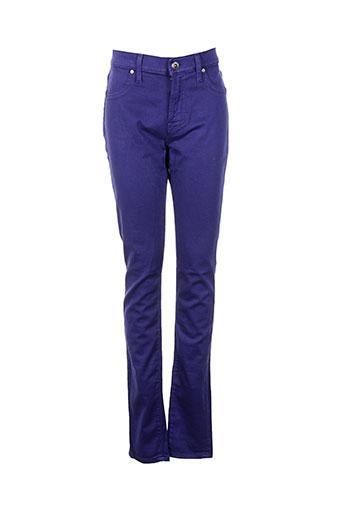 freesoul pantalons femme de couleur bleu