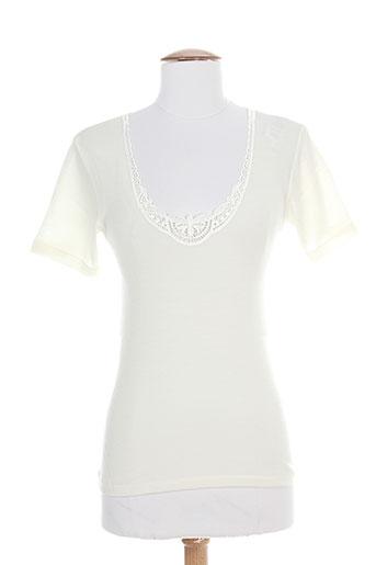 emmebivi t-shirts femme de couleur beige