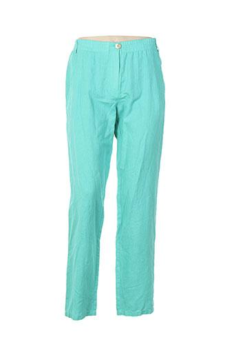 pause cafe pantalons femme de couleur vert