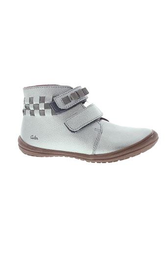 aster boots fille de couleur gris