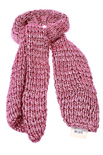 lollipops echarpes et gants femme de couleur rose