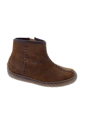 pom et d et api boots fille de couleur marron