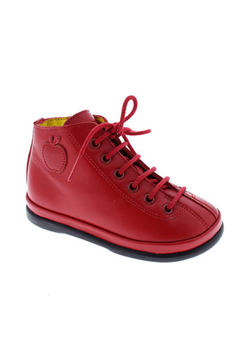 pom et d et api boots fille de couleur rouge